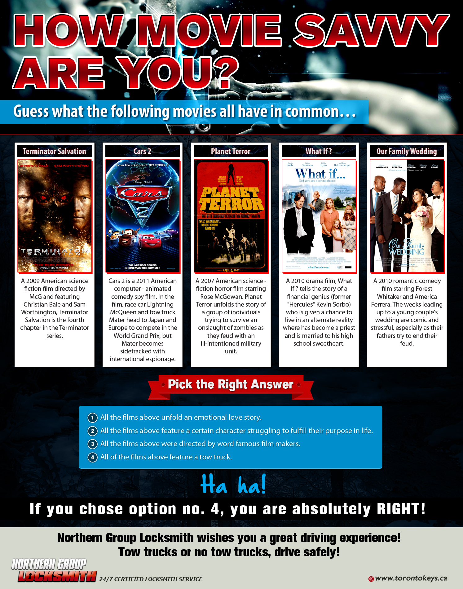 How movie savvy are you Infografic